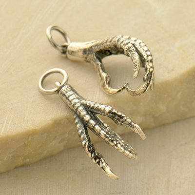 Sterling Silver Bird Claw Charm - Poppies Beads n' More