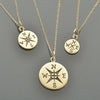 Journey Charm Necklaces - Big, Medium and Small Compass - Poppies Beads n' More