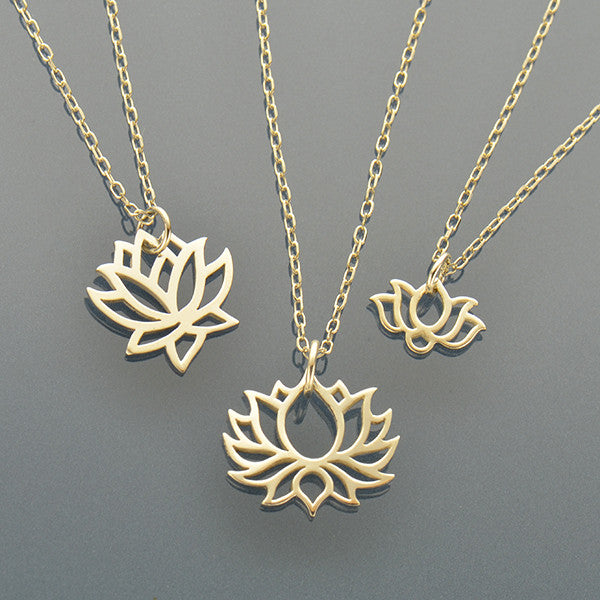 Bloom Charm Necklaces - Sm, Med & Large Lotus - Poppies Beads n' More