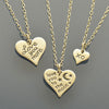 XO Charm Necklaces - 2 Medium Hearts and 1 Small Heart - Poppies Beads n' More