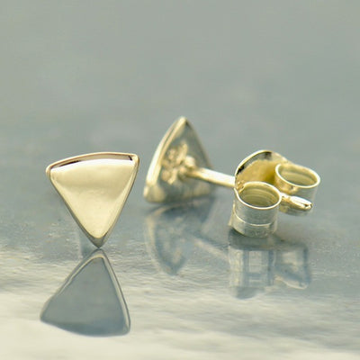 Triangle Post Earrings - Poppies Beads n' More