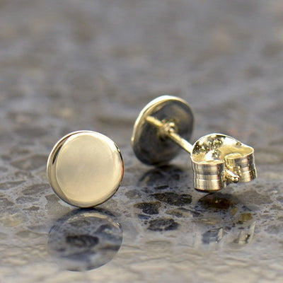 Sterling Silver Dot Stud Earrings - Poppies Beads n' More