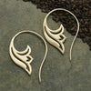 Sterling Silver Lotus Scroll Earring - Poppies Beads n' More