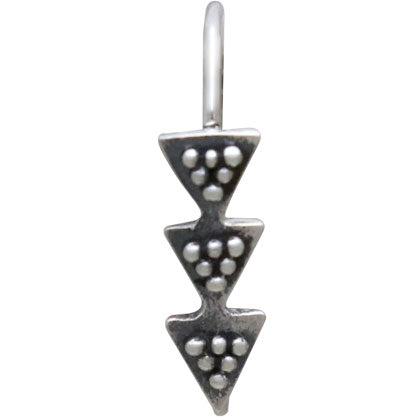 Sterling Silver Ear Hooks with Stacked Triangles