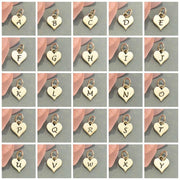 Small Silver Letter Heart Charms - Poppies Beads n' More