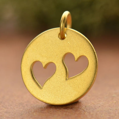 Disk with Two Heart Cutouts