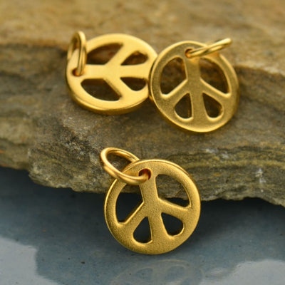 Small Peace Sign Charm