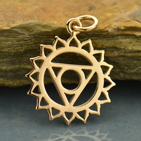 Sterling Silver Throat Chakra Charm - Poppies Beads n' More