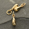 Medium Solid Natural Bronze Teardrop Dangle - Poppies Beads n' More