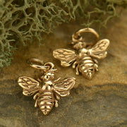 Small Honeybee Charm, - Poppies Beads n' More