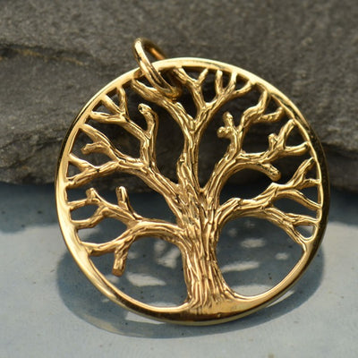 Textured Tree of Life Charm,