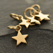 Tiny Flat Star Charm - Poppies Beads n' More