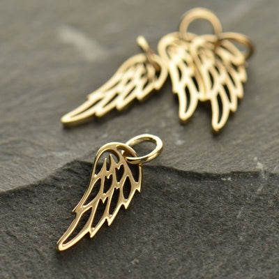 Openwork Angel or Bird Wing Charm