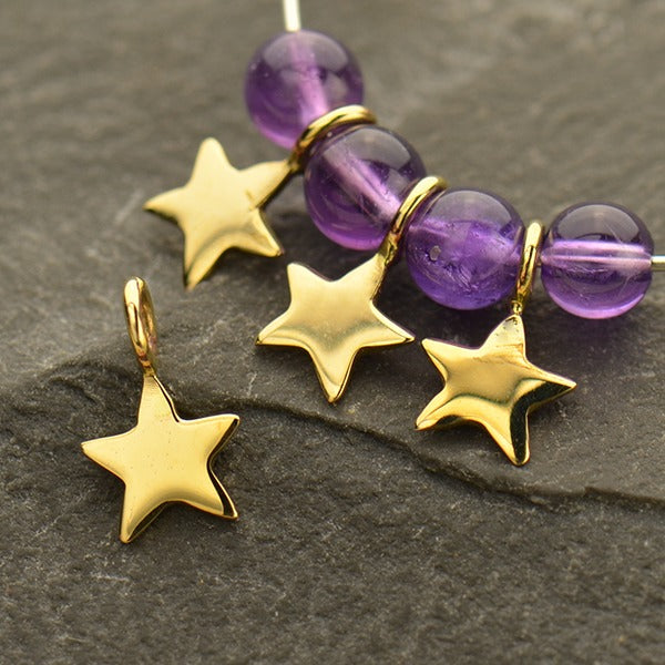 Tiny Star Dangle, - Poppies Beads n' More