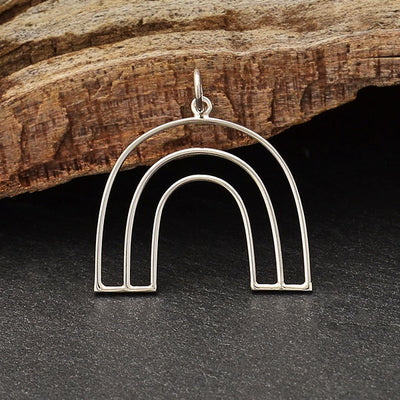 Sterling Silver Open Wire Arch Pendant