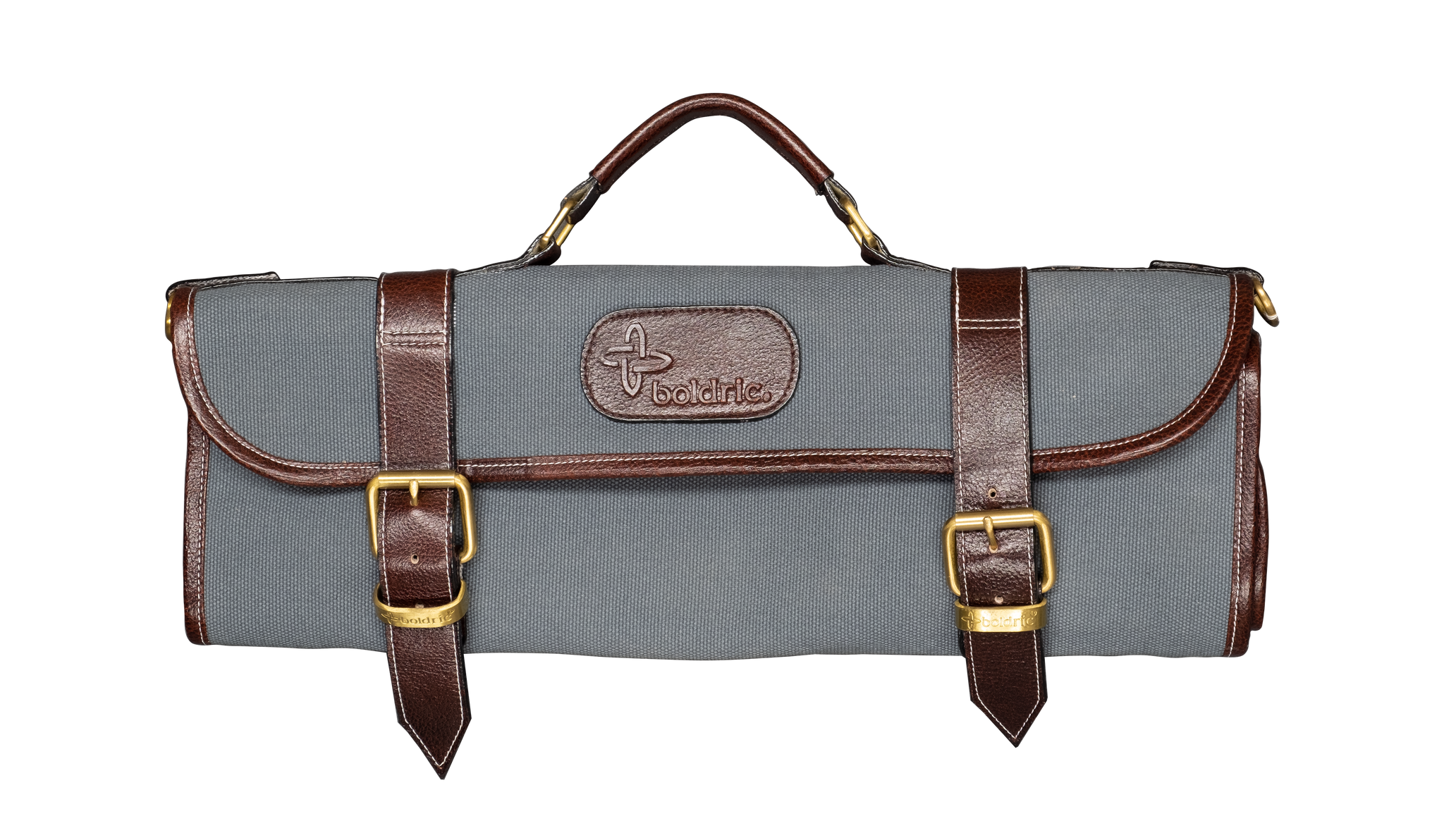 Boldric Canvas Knife Bag 9 Pocket Abalone with Straps