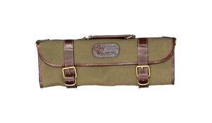 Boldric Canvas Knife Bag 9 Pocket Green with Straps