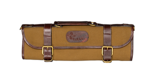 Boldric Canvas Knife Bag 9 Pocket Khaki with Straps