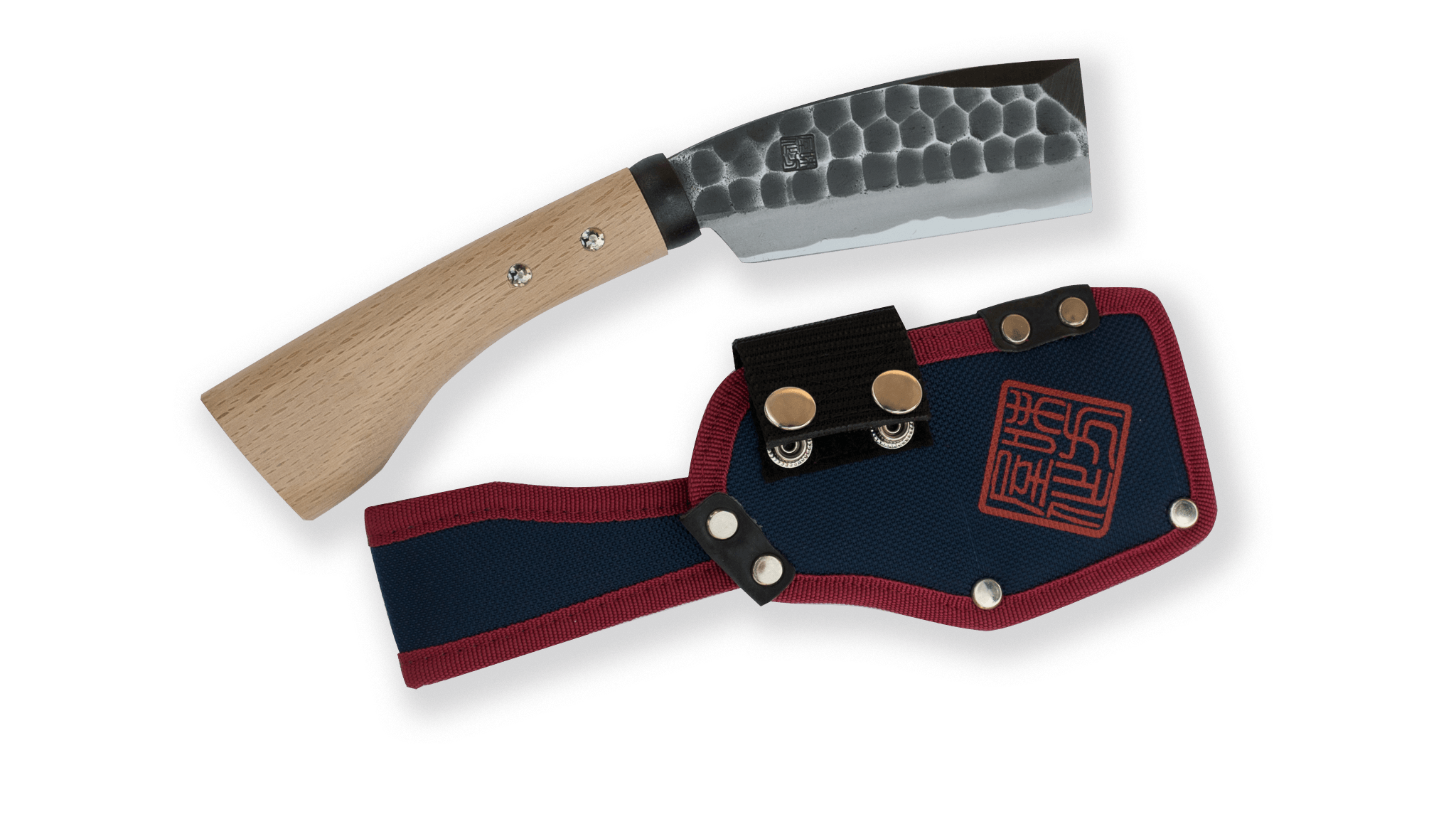 Ajikataya Tsuchime Hatchet 105mm Oak Handle (Double Bevel)