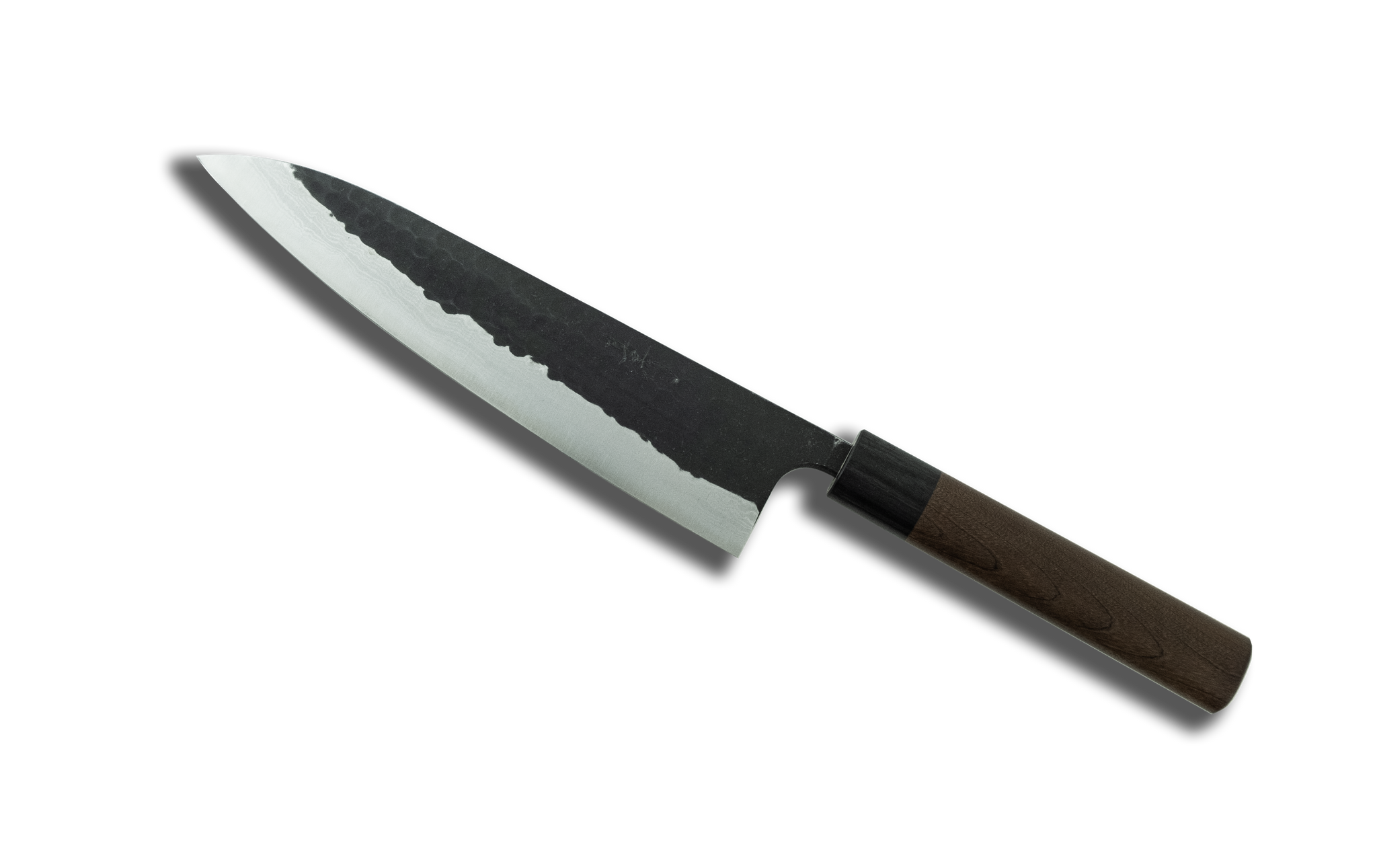 Akifusa Blue Super Steel Kurouchi Gyuto 210mm Rosewood Handle
