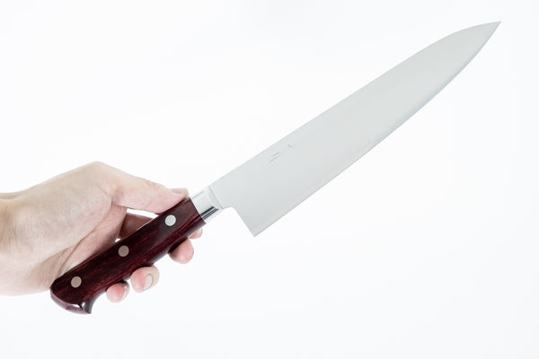 Hitohira TP Gyuto 210mm Wine Pakka Handle