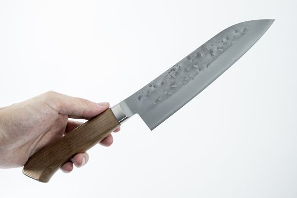 Tadafusa Blue #2 Stainless Clad Santoku 165mm Walnut Handle