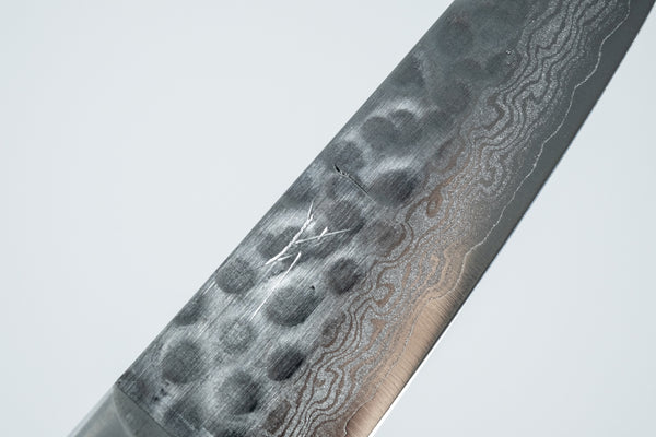 Hitohira HG VG10 Tsuchime Damascus Paring 85mm Imitation Mahogany Handle
