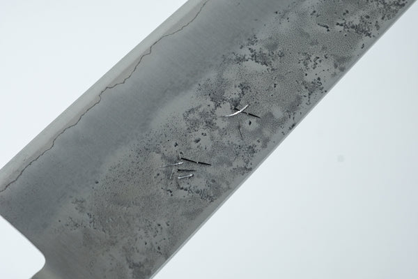 Ohishi Ginsan Nashiji Gyuto 240mm Pakka Handle