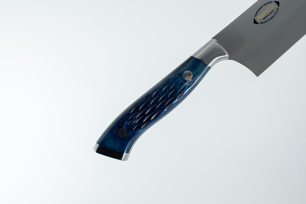 Nenox Custom PB Gyuto 210mm Pacific Blue Bone Handle