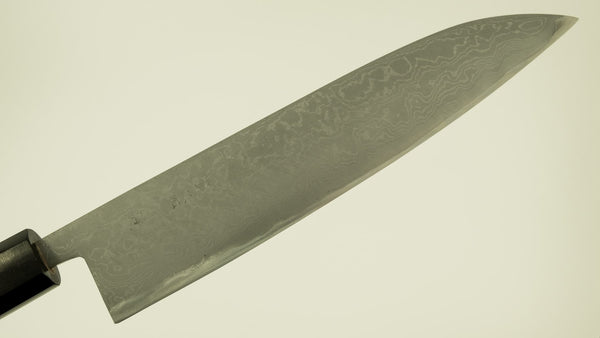 Morihei Hisamoto Blue #2 Damascus Wa-Gyuto 240mm Walnut Handle