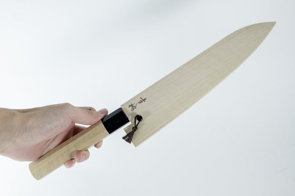 Konosuke Swedish Steel Gyuto 210mm Magnolia Black Horn Handle