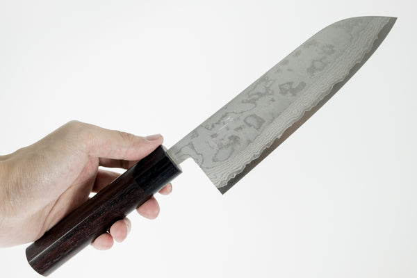 Hitohira NM Damascus Santoku 165mm Rosewood Handle