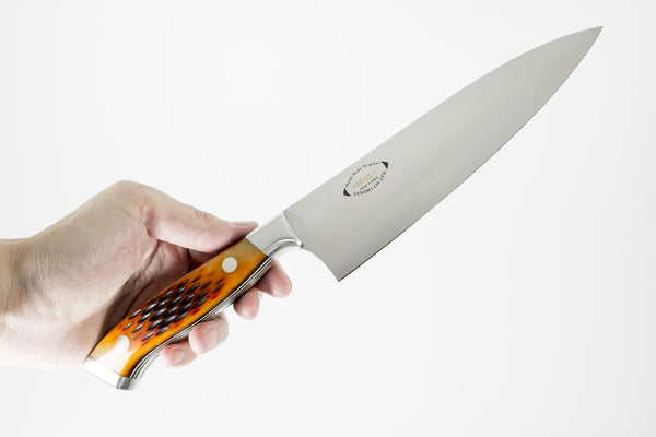 Nenox Custom AB Yo-Deba 165mm Amber Bone Handle