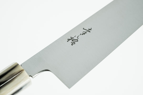 Konosuke Swedish Steel Wa-Gyuto 210mm Magnolia Blonde Horn Handle