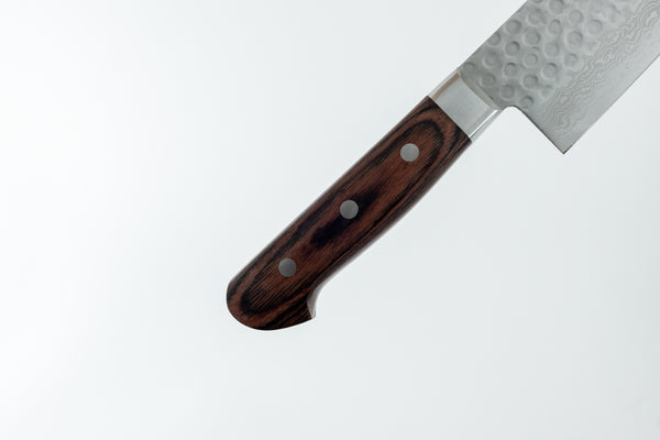Hitohira HG Tsuchime Damascus Gyuto 240mm Imitation Mahogany Handle