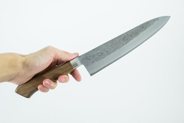 Tadafusa Blue #2 Stainless Clad Gyuto 210mm Walnut Handle