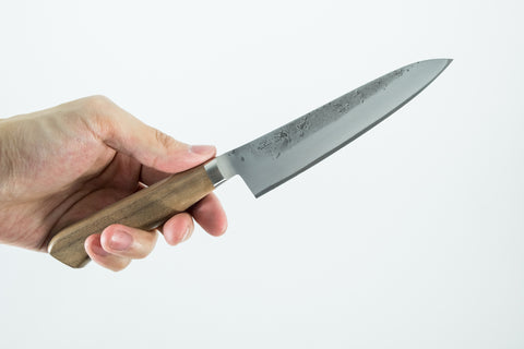 Tadafusa Blue #2 Stainless Clad Petty 125mm Walnut Handle