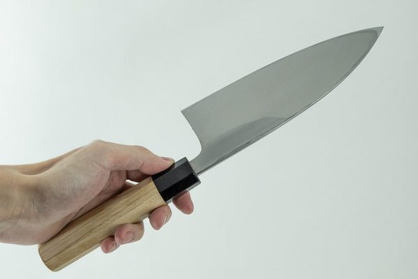 Kogetsu NOS White Steel Deba 165mm Ho Wood Handle