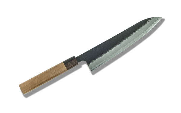 Hitohira Futana SB Kuro Tsuchime Gyuto 210mm Cherry Wood Handle