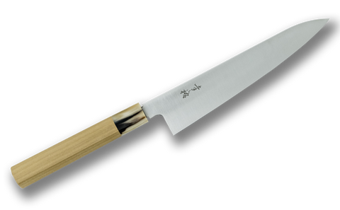 Konosuke Swedish Steel Gyuto 210mm Magnolia Blonde Horn Handle