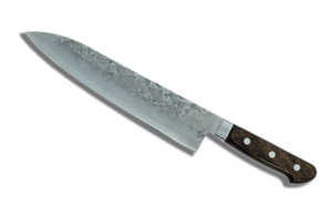 Ohishi Ginsan Nashiji Gyuto 210mm Pakka Handle