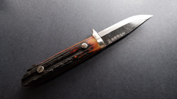 Takeda NAS Moriya Special Fixed Blade 100mm Stag Handle