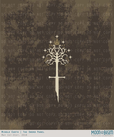 Middle Earth - The Sword Panel Cotton/Spandex
