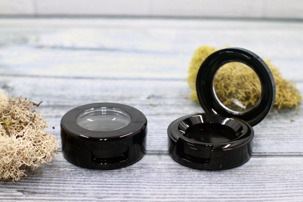 DIY PAK-Compact - Black Round Top 27mm-Make your own professional makeup/cosmetics