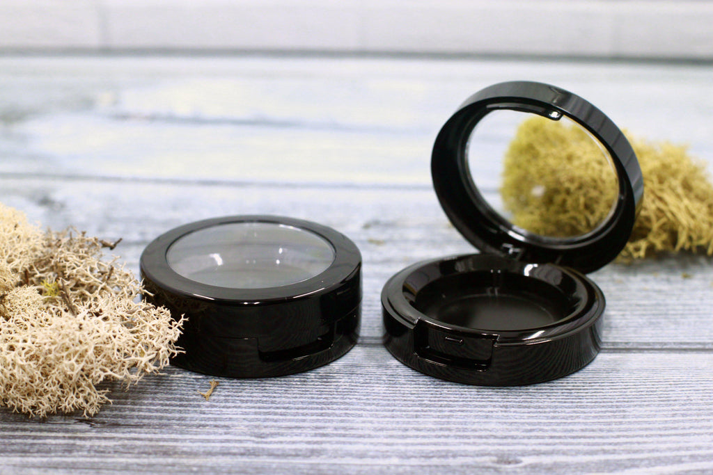 DIY PAK-Compact - Black Round Top 37mm-Make your own professional makeup/cosmetics