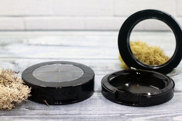 DIY PAK-Compact - Black Round Top 59mm-Make your own professional makeup/cosmetics