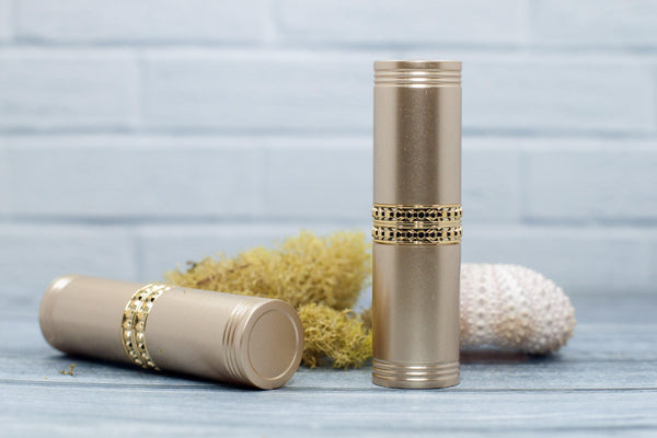 DIY PAK-Lipstick Case - Matte Gold Fancy 12.7 Cup-Make your own professional makeup/cosmetics