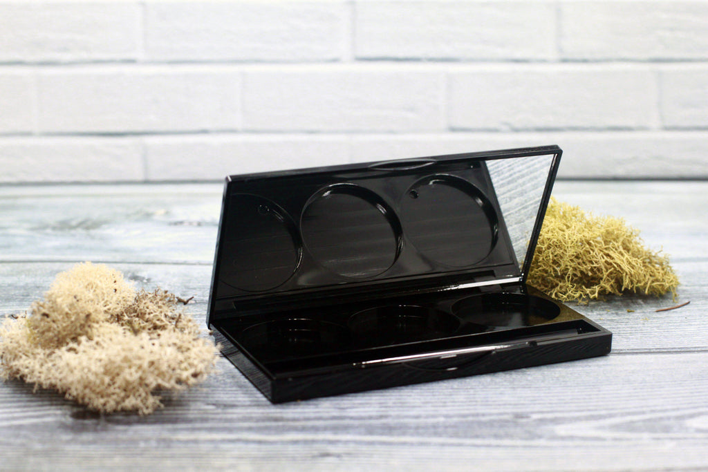 DIY PAK-Makeup Palette with Mirror - 3-Well-Make your own professional makeup/cosmetics
