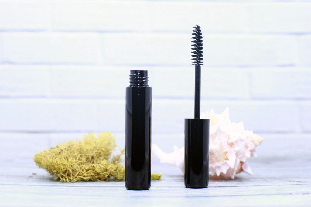 DIY PAK-Mascara Tube - Classic Round - Shiny Black-Make your own professional makeup/cosmetics