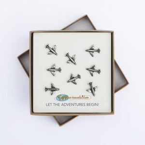 Pewter Airplane Push Pins